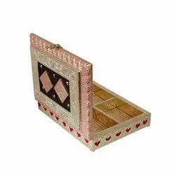 Gift Wooden Multipurpose Dry Fruit Rectangular Box, For Home