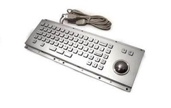 Stainless Steel 89 Keys Industrial USB Metal Keyboard with Trackball or TouchPAD, Size: Regular, Model Number: AAT-603TB