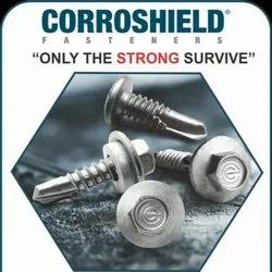 Carbon Steel Corroshield Screws (METAPP SERIES), Size: M5.5 (#12) & M6.3 (#14), for Construction