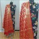 Banarsi Dupatta With Cotton Printed Suit