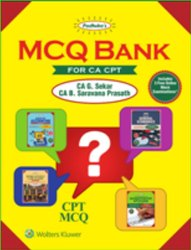 MCQ Bank For CA CPT Book, Edition : Feb 2018