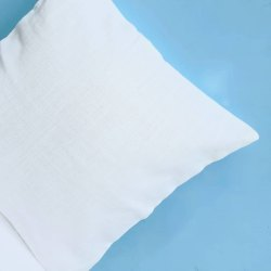 White Cotton Slub Cushion Cover