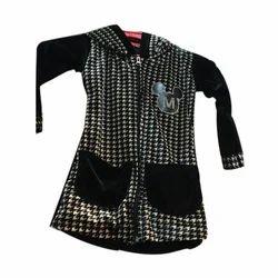 Black Full Sleeve Girls Polyester Garment, Size: Large