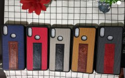 Samsung Black Leather Mobile Cover
