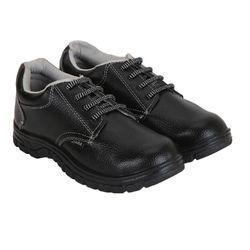 Zara Leather Black Safety Shoes, Size: 6-12