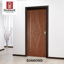 Diamond Veneer Decorative Wooden Door