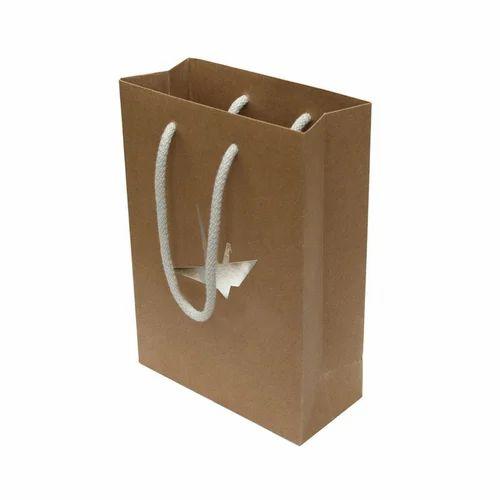 Kraft Paper Brown Rope Handle Bag