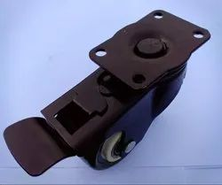 Single PU Caster Wheel Plate Type