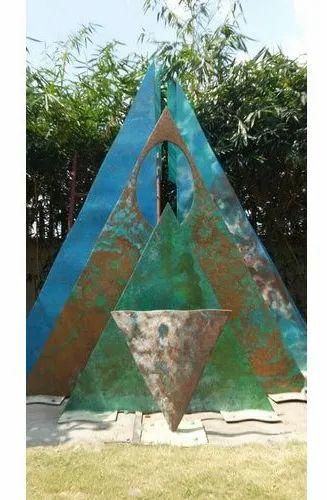 Contemporary Carved Exterior Backyard Sculpture