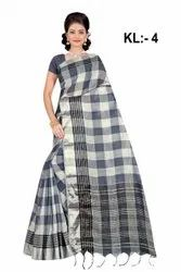 Formal Wear Linen Saree
