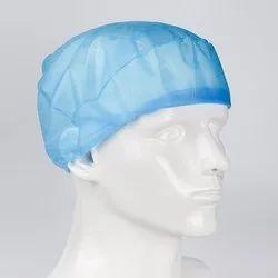 Blue Non Woven Bouffant Cap, Surgical Head Cap(Disposable), Quantity Per Pack: 100