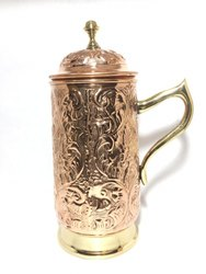 Copper Embossed Jug