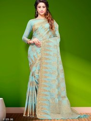 Aura Saree Swara Chanderi Zari Pattern Latest Design Saree