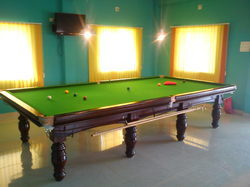 Green Color Billiard Table