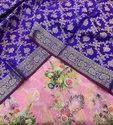 Banarasi Pure Silk Digital Print Suit