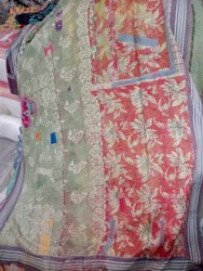 Double Shade Vintage Kantha Quilt