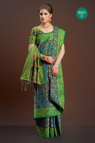 f98de636ca6130 Silk Designer Top Dyed Saree With Blouse Piece