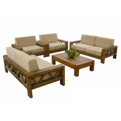 Trendy Wooden Sofa Set, for Home