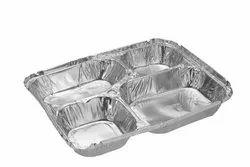 Paramount 4 CP (Compartment) 1200 ML Premium Disposable Aluminium Foil  Food Container