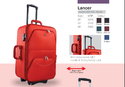 Orange Polyester Trolley Suitcase, Number Of Wheel: 2