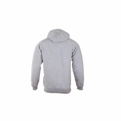 f341c2641b02 65% Cotton; 35% Polyester Light Grey Melange Wildcraft Men' s Hooded  Sweatshirt
