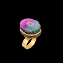 Gold Plated Handmade Fashion Adjustable Ring for Girls