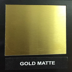 Gold Matte Designer Stainless Steel Sheet