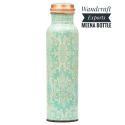 Enamel Print Copper Bottle