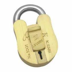 Brass Ramson 10 Lever Security Padlock