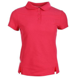 Cotton Plain Ladies Collar T-Shirt