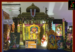 Fiber Golden Wedding Balaji Mandap, Size: 16 X 10 X 16 Feet