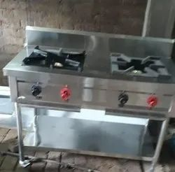 Steel Two Burner Renj, for Kitchen