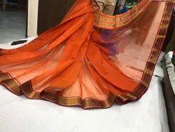 Casual Wear Border Induri saree, With blouse piece, 6.20