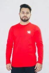 Red Round Neck T Shirt