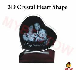 3D Crystal Heart Shaped