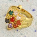 Gold Plated Navratna Ring