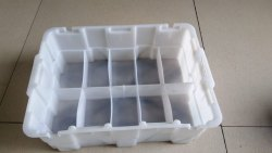 ADM Rectangular White Industrial Partition Plastic Crate, Size: 420X300X140