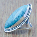 Beautiful Turquoise Gemstone 925 Sterling Silver Ring
