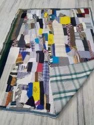 Cotton Reversible Vintage Kantha Quilt