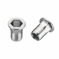 Blind Rivet Nuts (Inserts) Flat Head- Semi-Hexagonal Steel