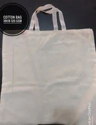 18x20 Inch Off White Cotton Carry Bag for Shopping