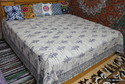 Dabu Hand Block Print Cotton Bed Sheet
