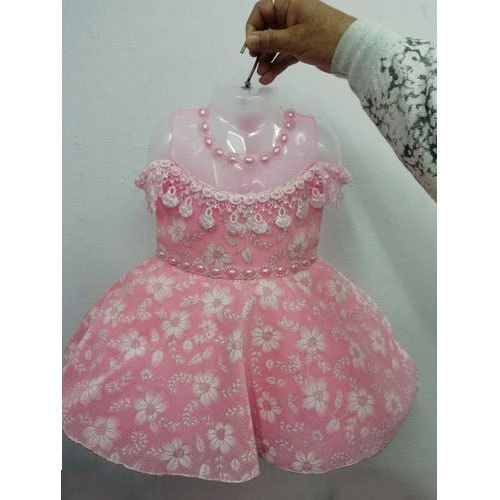 b94f863f9825 Pink Party Wear Baby Girl Fashionable Frock