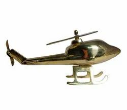 Brass Helicopter Model