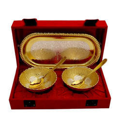 German Golden Brass Bowl Set