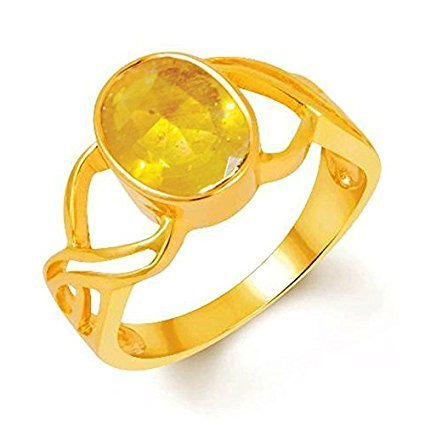 Certified Yellow Sapphire 6 5 Carat 7 25 Ratti Ring at Rs
