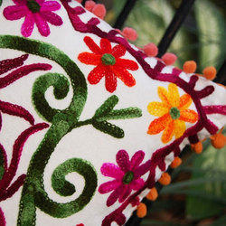 Embroidery Cushion Cover, Size: 16*16