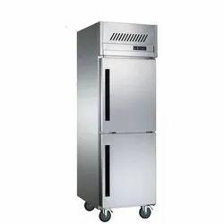 Stainless Steel Electricity Two Door Vertical Refrigerator, Capacity: 550 ltrs, Double Door