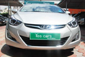 Silver Hyundai Elantra Car