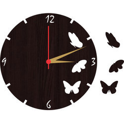 Analog Round MDF Personalized Wall Clock, Packaging Type: Corrugated Box
